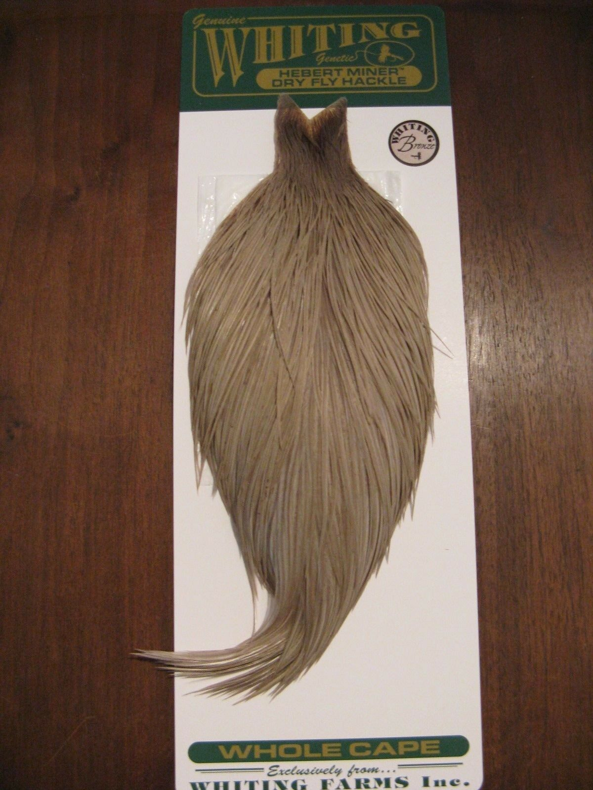 Fly Tying Whiting Bronze Rooster Cape Light Grey Dun  B