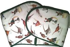 Bryn Parry Double Oven Gloves to grace any kitchen or BBQ - with pheasant design
