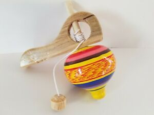 Multi-Color Wood Yo-Yo Mexican Traditional Toy Handmade New