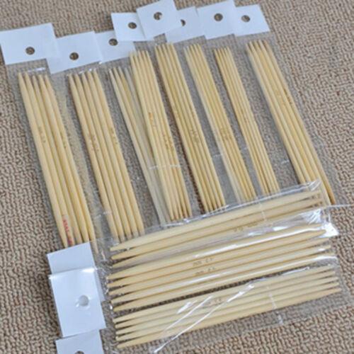 55Pcs//set 11 tailles doubles pointes en bambou Aiguilles à tricoter Pull GANT Knit outil