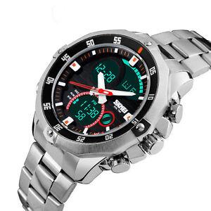 Skmei Stainless steel Waterproof Watch Analog Digital watch for men.mens watches