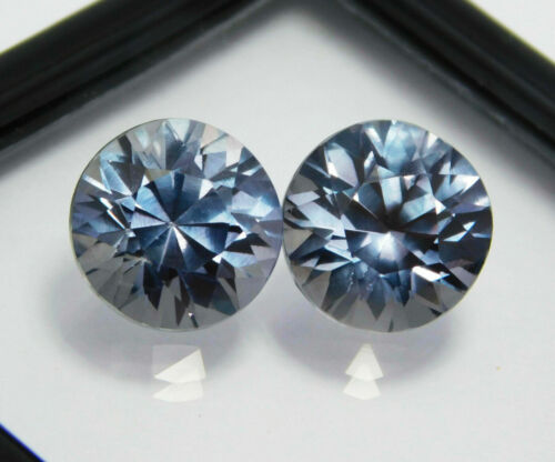 Natural Certified Round 17 CT Color Change Pair Alexandrite Loose Gemstone
