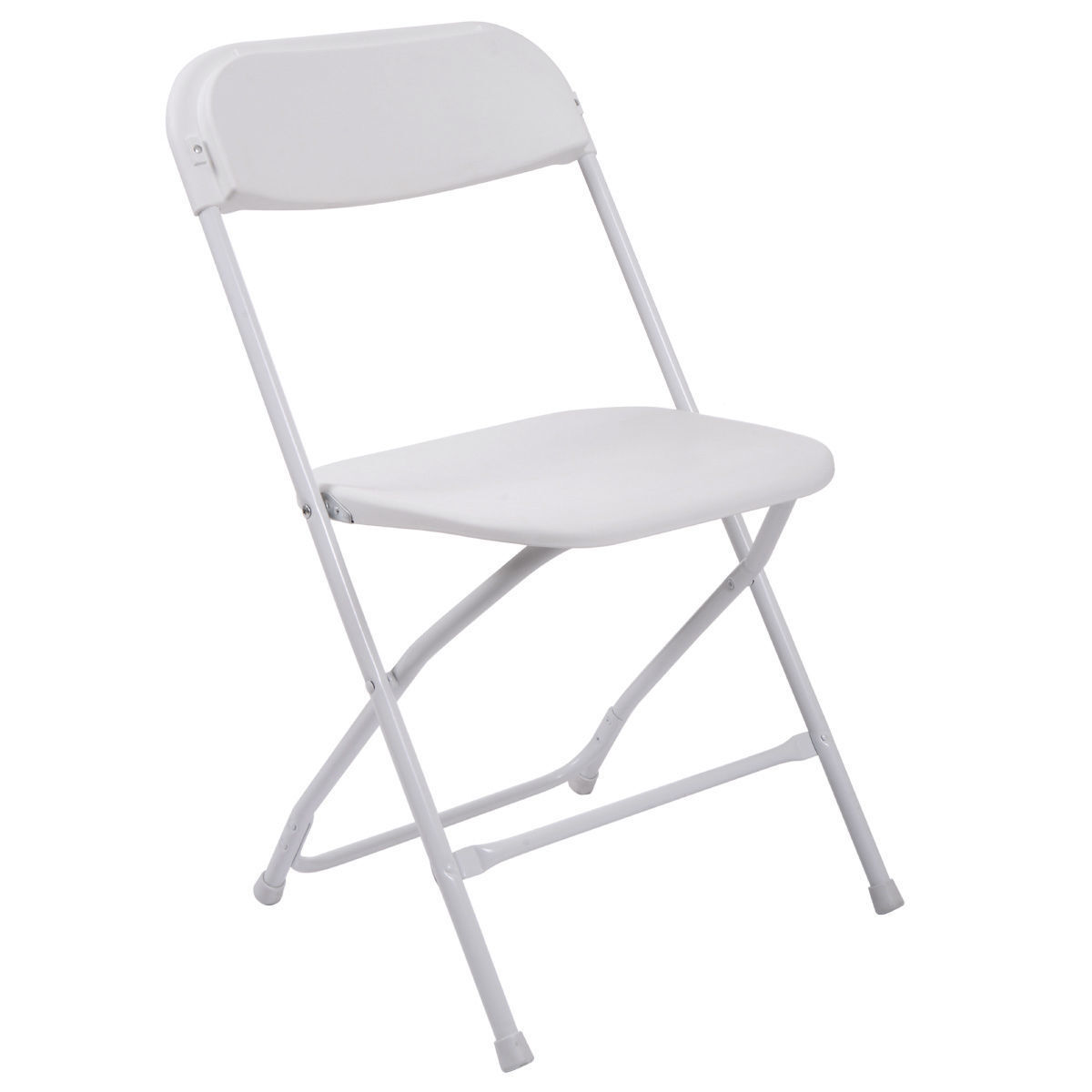 8 Pc Commercial White Plastic Folding Chairs Stackable Wedding Party Event Chair
