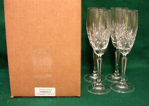 Schott-Zwiesel-CHANTILLY-Champagne-Flutes-SET-of-FOUR-MINT-IN-BOX