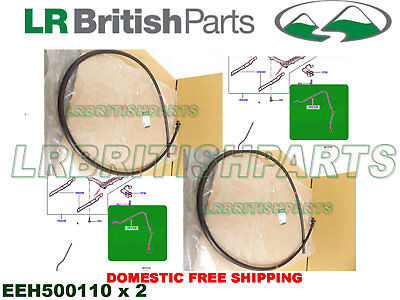 LAND ROVER SUNROOF WATER DRAIN TUBE HOSE SET x2 LR3 LR4 EEH500110 OEM
