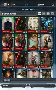 Star-Wars-Card-Trader-pick-any-9-cards-from-Thundergirl-2-1-account