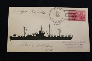 Marine-Abdeckung-1952-Schiff-Stempel-SCHIFFS-Cachet-Uss-Aludra-AK-72-5986