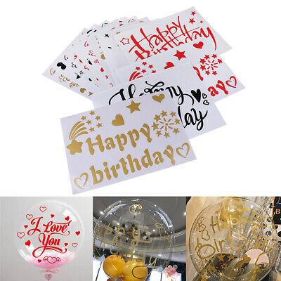 18-36Inch Happy Birthday Transparent Wave Balloon Stickers Birthday Party DeKTP