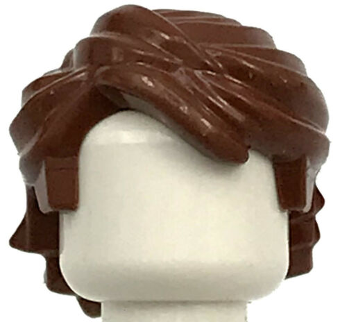 LEGO NEW REDDISH BROWN HAIR TOUSLED MINIFIGURE BOY WIG SWEPT BACK PIECE