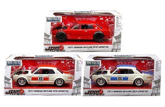 Jada  1 24 Metals JDM Tuners 1971 Nissan Skyline GT-R KPGC10 3 Couleurs Set 30002  centre commercial de la mode