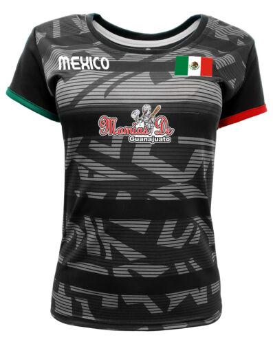 Women Jersey Mexico Momias de Guanajuato 100/% Polyester Black//Grey