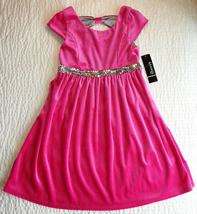 Festtagskleid Rosa Samt Pink Neu Gr 140 158 Kleid Hochzeit