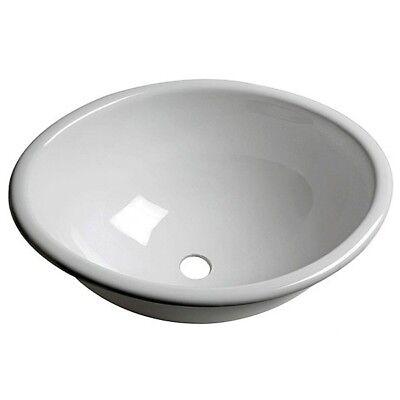 Plexiglas Spüle Spülbecken Waschbecken weiß oval 370x290x150mm f Badezimmer Bad