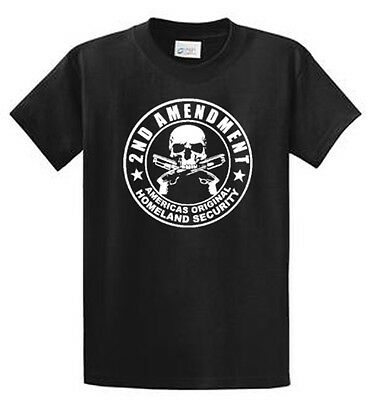 2nd Amendment Rebel Guns Graphic Printed Tee Shirts Reg - Big and Tall Port & Co