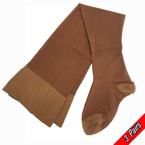 SUPPORT STOCKINGS BY BERKSHIRE 30 DENIER SMOOTH KNIT MEDIUM TUSCANY 3 Pairs