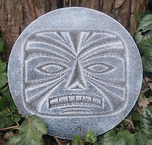Tiki-plaque-mold-garden-plaster-concrete-resin-casting-7-75-034-x-3-4-034-thick