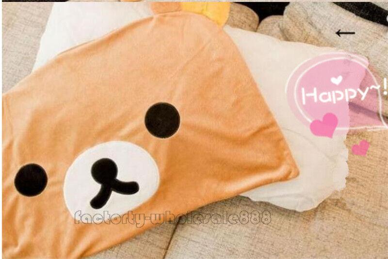 Pillow Case 63*43cm Top Sale Rilakkuma Brown Relax Bear San-X Cute Plush Cover A