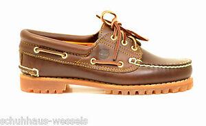 new product 14d51 7ea6a Details zu Timberland 5130 Damen Schuhe 3 EYE Bootschuhe Mokassins braun  NEU REDUZIERT