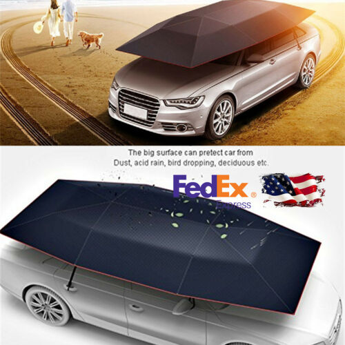 Car Tent Semi-Automatic  Umbrella Tent Cover Carport Folded Anti-UV Water-Proof