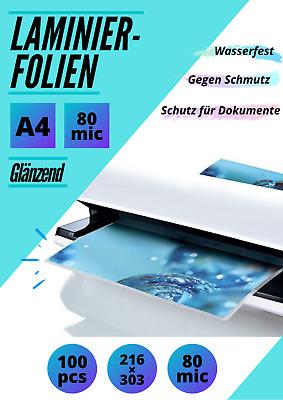 mit Abheftrand//Filex 200 Stk 1-PACK Laminierfolien DIN A4