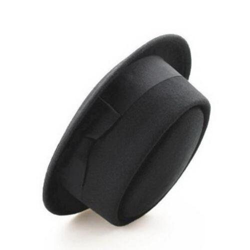 Wool Felt Crushable Porkpie Vintage Round Short Brim Fedora Hat Cap MODE