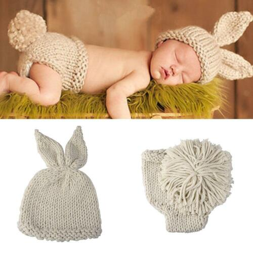 Baby Fotoshooting Fotografie Strick Kostüm Hut Hose Häkelkostüm Progeborenen Set