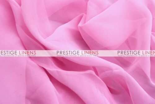 "Per Yard Chiffon Dress Apparel Fabric Candy Pink 58/"" Wide"