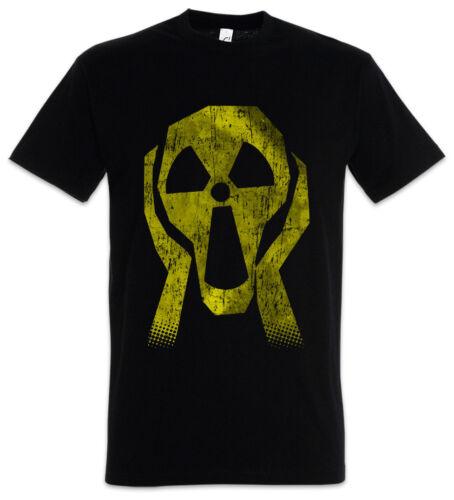 Radioactive Face T-Shirt Radioaktiv Atomar Atomkraft Atomkraftwerk Strahlung