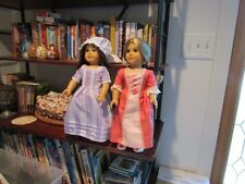 Felicity and Elizabeth Dolls American Girl Used with clothes