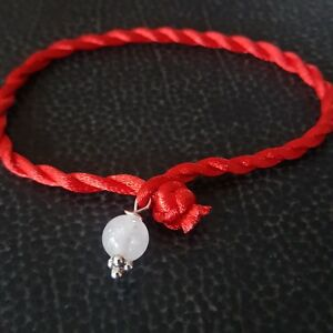 Image Is Loading Red Protection String North Carolina White Azeztulite Bead