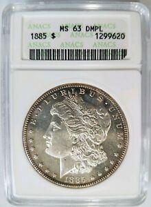 1885-Silver-Morgan-Dollar-ANACS-MS-63-DPL-Deep-Mirrors-Proof-Like-PL-DMPL-UDM