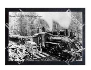 Historic-Clemons-Logging-Co-Melbourne-Washington-Train-Postcard