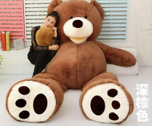 """PLUSH TOY SHELL 79/"""" WITH ZIPPER ONLY COVER 200CM SUPER HUGE TEDDY BEAR"""