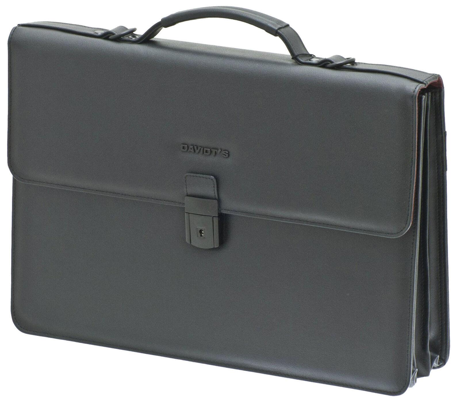 Arbeits Akten Schulter Tasche Querformat 41x30x9cm Groß Schwarz Davidts Bowatex | Perfekte Verarbeitung  | Niedriger Preis und gute Qualität  | Praktisch Und Wirtschaftlich