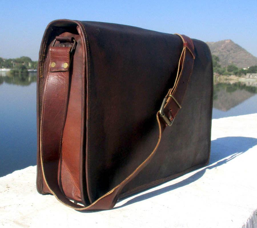 Rustikale Herren Vintage Vintage Vintage Leder Satchel Messenger Mann Handtasche Laptop Aktentas | Schöne Farbe  974bc0