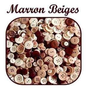 LOT-45-BOUTONS-MARRON-BEIGE-CREME-SCRAPBOOKING-LAYETTE