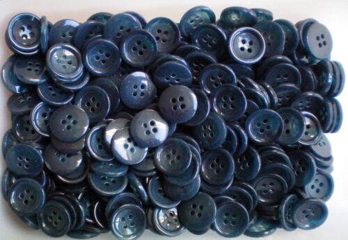W375 18 mm 28 L Azul Marino /& Light Blue Swirl 4 agujero Craft Costura Chaqueta Botones