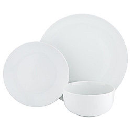 sc 1 st  eBay & Tesco Dine 12 Piece Coupe Porcelain Dinner Set White | eBay