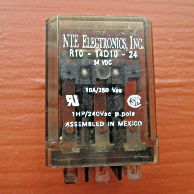 NTE ELECTRONICS R10-11D10-24 24VDC RELAY WITH SOCKET