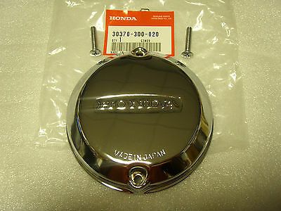 Honda NOS CB750 750 K0-K8 76 Point Cover + 2 Screws CB750A CB750F 30370-300-020