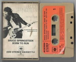 CASSETTE-TAPE-BRUCE-SPRINGSTEEN-Born-to-run-Cbs-75-ITALY-1st-ps-VG