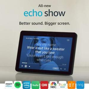 BRAND-NEW-Amazon-Echo-Show-2nd-Gen-2018-model-10-1-HD-screen-BLACK-CHARCOAL