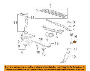 Toyota Oem Wiper Washer Windshield Fluid Level Sensor 8539733230