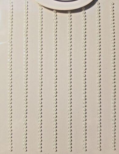CraftbuddyUS 360 x 2mm Pearl Self Adhesive Strip Stick on Gem for Card Making