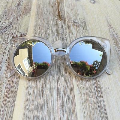 Large Round Cat Eye Hot China Doll Boho Fashion Blogger Glasses Sunglasses 6734
