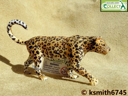 CollectA AFRICAN LEOPARD solid plastic toy wild zoo animal cat predator NEW