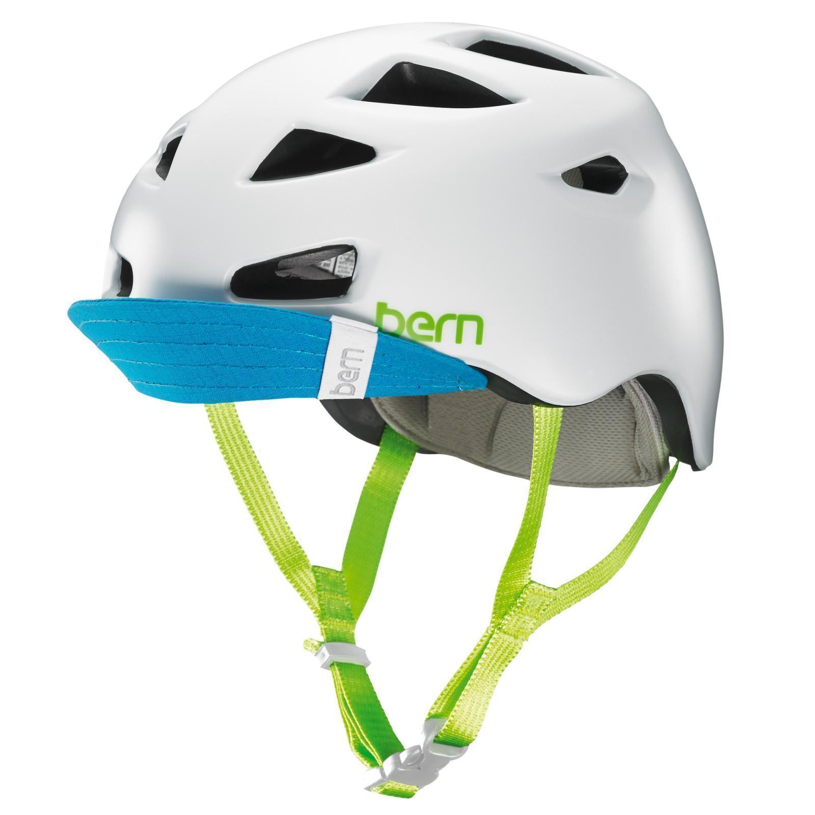 Bern Damen Helm MelRosa Zipmold -Visor -Visor -Visor MTB-Helm, Fahrradhelm 52-55,5cm, Weiß 4168bf