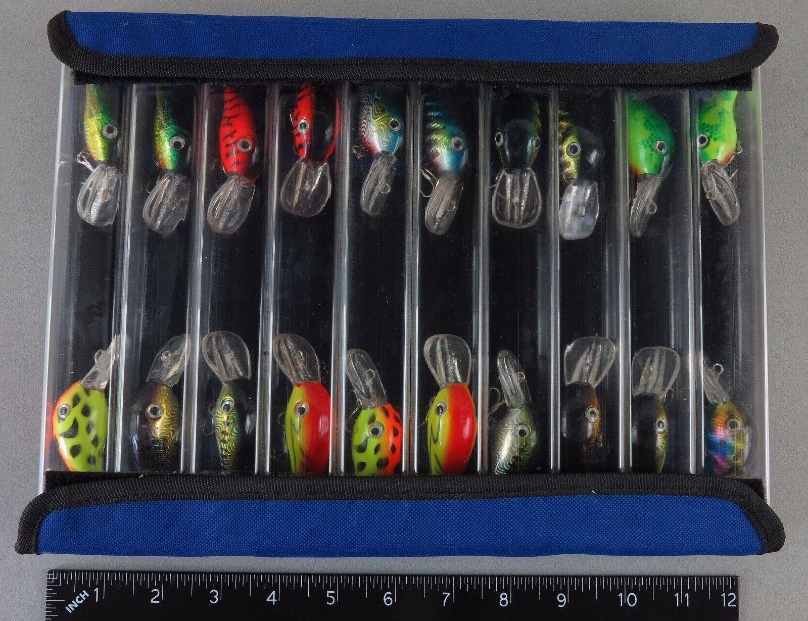 20 New  Crankbaits w Case Bass Crankbait Assortment  free shipping & exchanges.