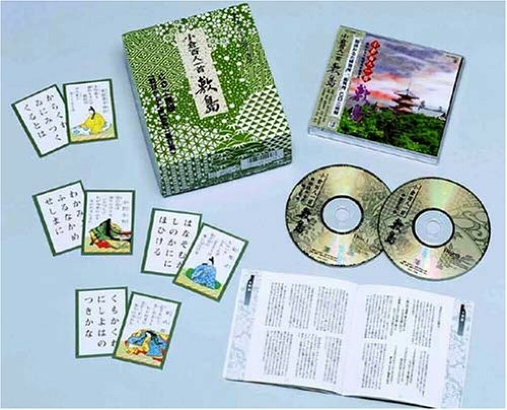 Hyakunin isshu Karuta Shima avec 2CD Japanese Carte Jeu Traditionnel