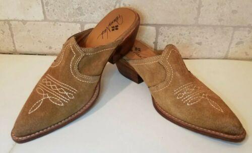 Patricia  Nash Brown Suede Embroidered Cowboy Slip